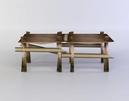 3d asset wooden square platform