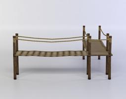 realtime 3d model wooden platform