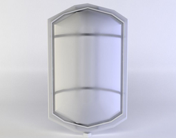 game-ready 3d asset small lamp1