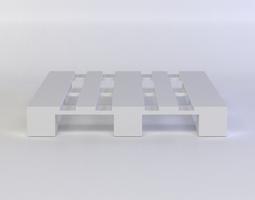 white palette 3d asset VR / AR ready