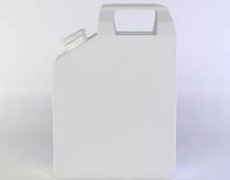 white jerry can  realtime 3d model