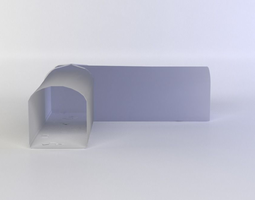 3d model low-poly white corner
