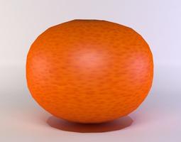 3d asset game-ready tangerine