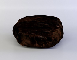 3d model realtime black steak