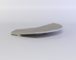 realtime white plate 3d asset