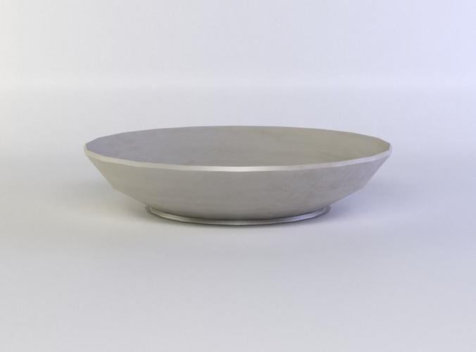 deep plate 3d model low-poly obj mtl fbx c4d lwo lw lws dae X 1