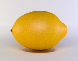 VR / AR ready lemon 3d asset