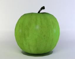 green apple 3d asset VR / AR ready