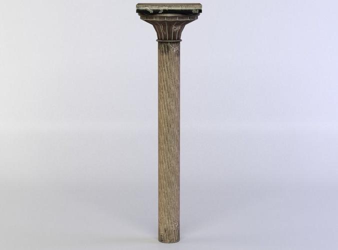 column 3d model low-poly obj mtl fbx lwo lw lws dae X u3d 1