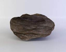 flat rock small game-ready 3d model