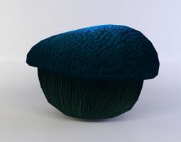 3d model blue mushroom medium game-ready
