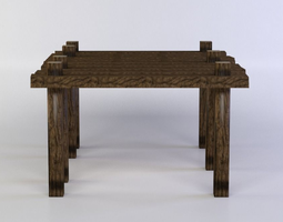realtime 3d asset wooden platform small