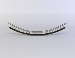 realtime hanging bridge 3d model