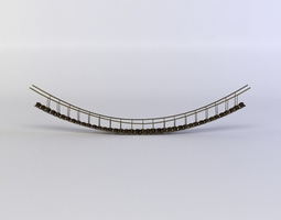 3d model hanging bridge  VR / AR ready