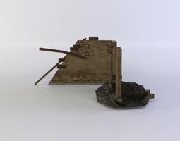 3d model VR / AR ready building ruins