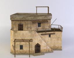 3d model oriental house VR / AR ready