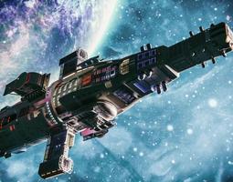 Spaceship - Blender Cycles scene 3D