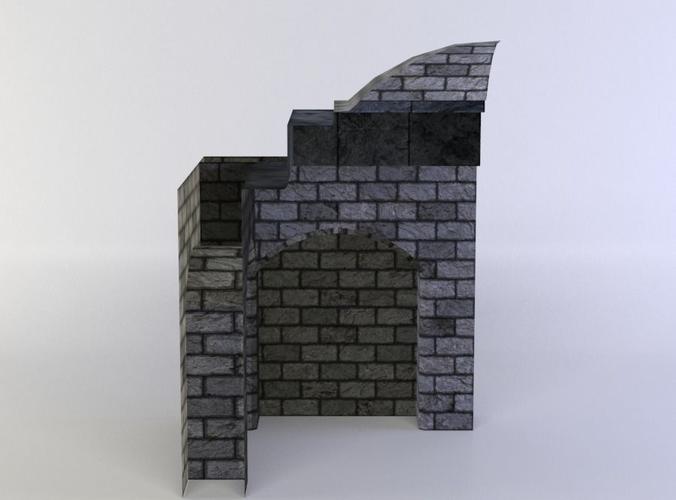 wallceilingcorner 3d model low-poly obj mtl fbx c4d lwo lw lws dae X 1