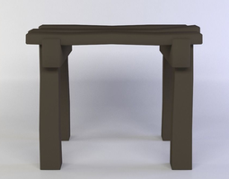3d asset low-poly small table