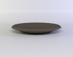 pottery plate 3d model realtime