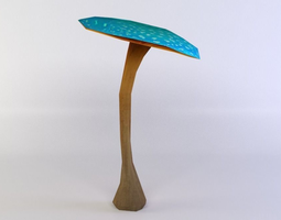 3d model blue mushroom game-ready
