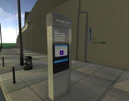3D asset new public phone tablet