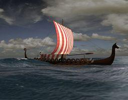 3D asset Viking Longship - Drakkar