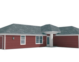 House-026 Low Poly 3D model