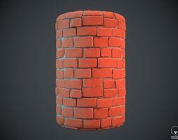 3D Stylized wall brick