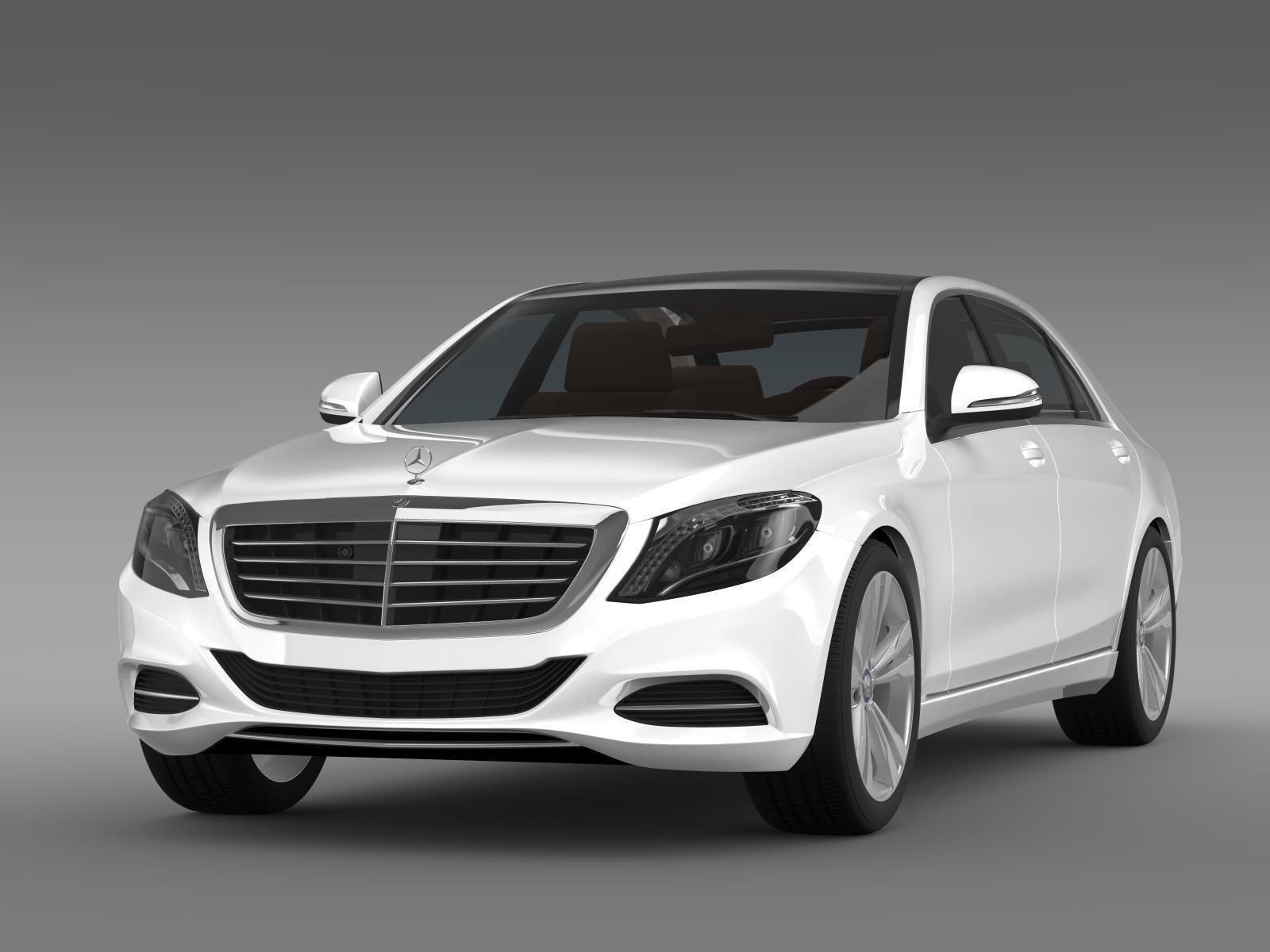Mercedes benz s 350 lang bluetec v222 2016 3d model max for Mercedes benz ma