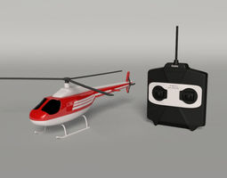 3D asset rigged Helicopter