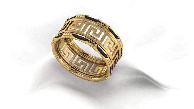 3d Print Model Versace Border Ring Cgtrader