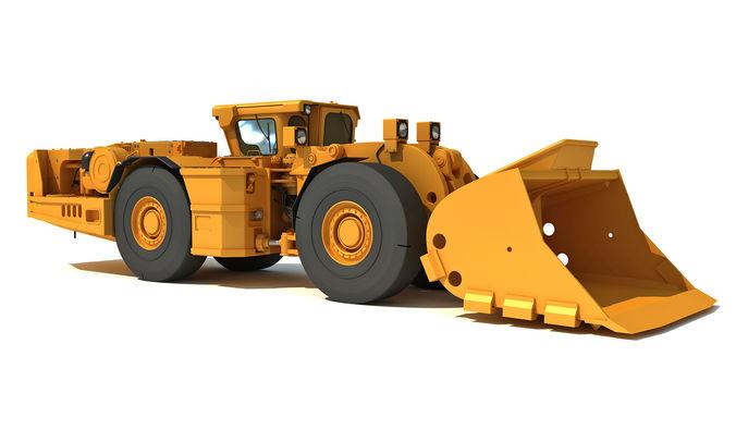 underground hard rock dump loader 3d model max obj mtl 3ds c4d lwo lw lws ma mb 1