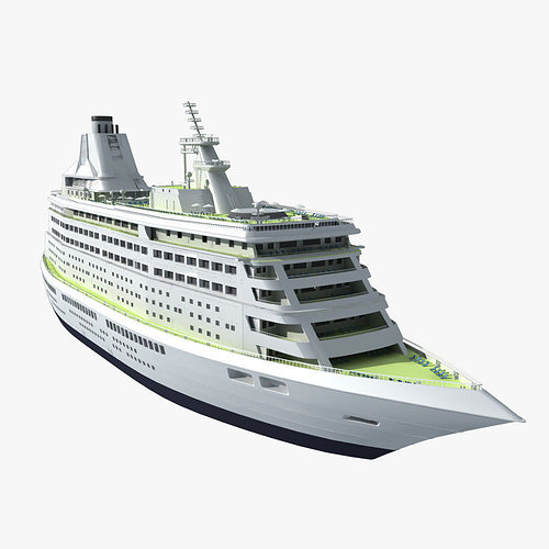 Liner 3d Model Cruise Ship Cgtrader