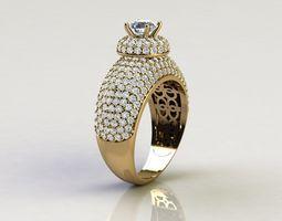Diamond Ring 3D print model jewelry diamond