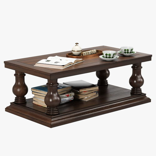 3d Pottery Barn Lorraine Coffee Table Cgtrader