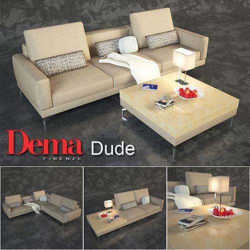 series of modular sofas dema dude 3d model max obj mtl fbx 1