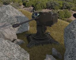 3D model Combat automatic turret