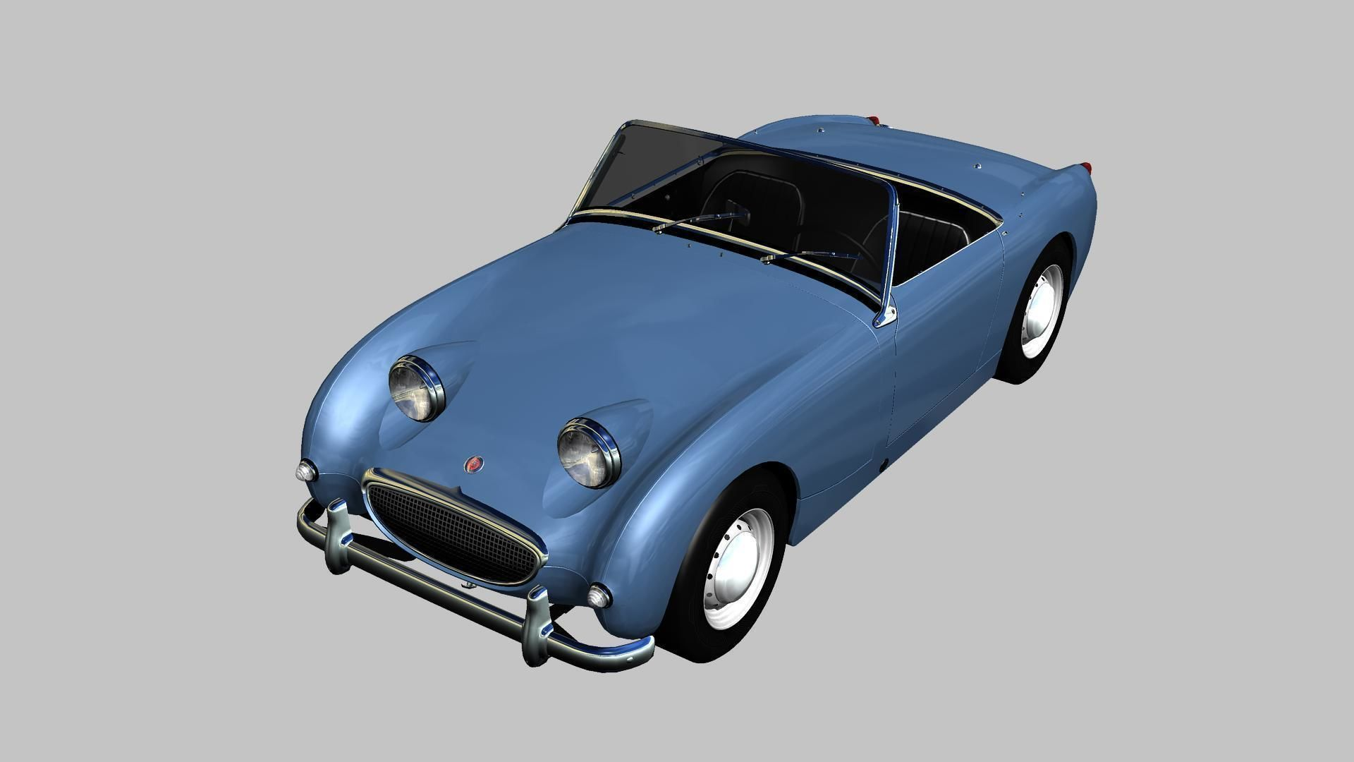 3d Model Austin Healey Sprite Mki 1958 Cgtrader