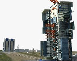 3d model jiuquan satellite launch center