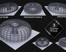 3D asset Circular Domes variety pack