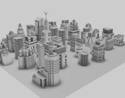 Simple City Concept 3D model