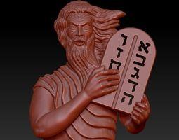 Moses stl cad cam 3D printable model