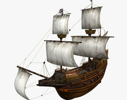 3D model Mayflower