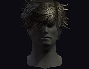 3D asset hair style 24