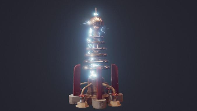 3d Tesla Coil Cgtrader