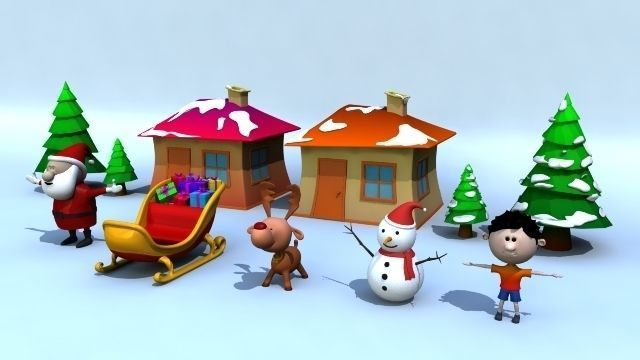 Xmas Models Pack - Rigged