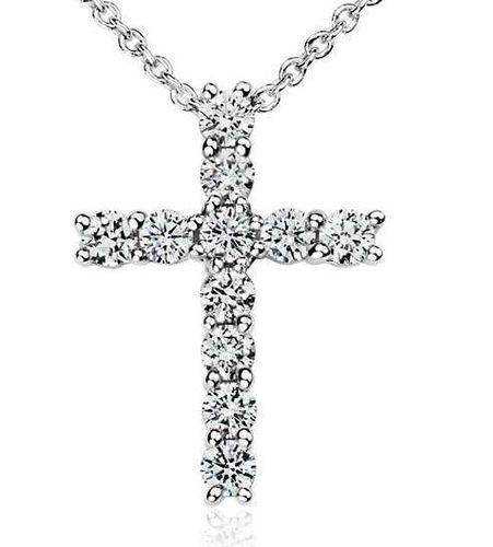 Diamond cross pendant size large 4mm 3d print model diamond cross pendant size large 4mm diamonds 3d print model mozeypictures Choice Image