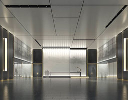Office meeting room reception hall 08 3D model