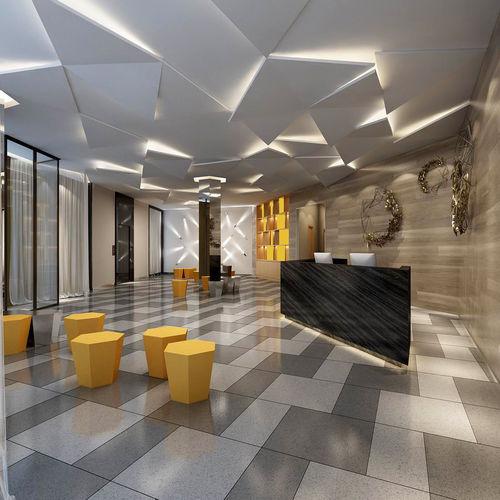 Office Ideas Reception: 3D Model Office Meeting Room Reception Hall 13